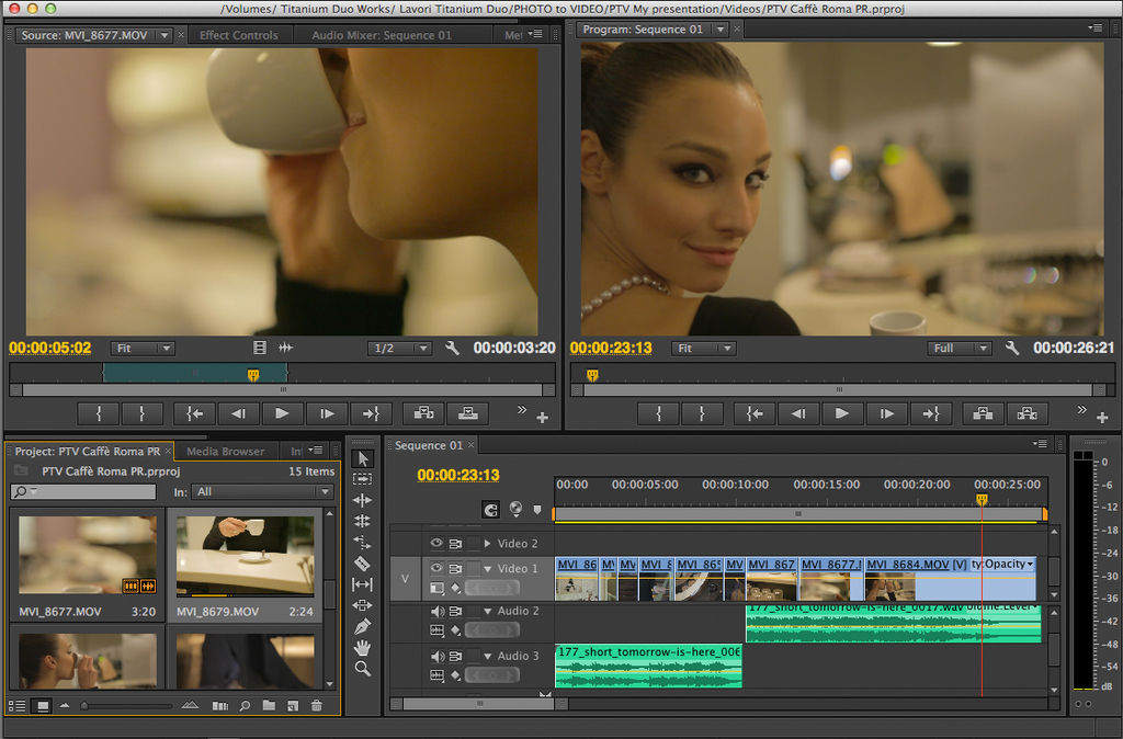 PTV caffè roma premiere layout Meglio Photoshop o Premiere per il video?